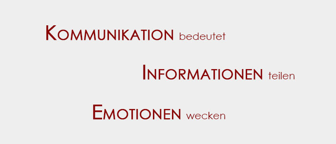 Kommunikation, Informationen, Emotionen